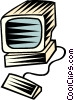 Vector Clip Art image  of a personal computers