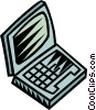 Vector Clip Art image  of a notebook/laptop computers