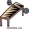 Vector Clip Art picture  of a bench press