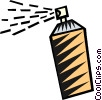 Vector Clipart image  of a bottle of hair spray