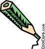 Vector Clip Art graphic  of a pencil