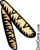 French baguette Vector Clip Art graphic