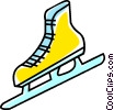 Vector Clipart image  of a ice skate