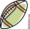 football Vector Clipart graphic