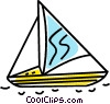 Vector Clip Art picture  of a sailboat