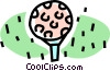 golf ball on a tee Vector Clip Art image