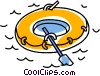 Vector Clip Art picture  of a rubber boat
