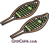Vector Clip Art image  of a snowshoes
