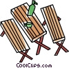 Vector Clip Art graphic  of a picnic table