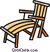 Vector Clipart picture  of a beach chair