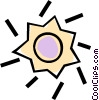 sun Vector Clipart graphic