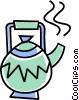 Vector Clip Art image  of a teapot