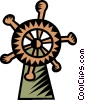 Vector Clipart illustration  of a captain's wheel