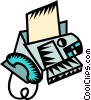 Vector Clipart picture  of a fax machine