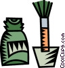 Vector Clip Art image  of a correction fluid