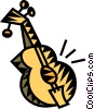 Vector Clipart graphic  of an acoustic guitars