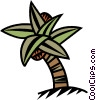 palm tree with coconuts Vector Clip Art graphic