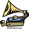 gramophone Vector Clipart graphic