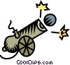 Vector Clip Art graphic  of a cannon