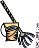 mop and pail Vector Clip Art picture