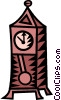 grandfather clock Vector Clip Art picture
