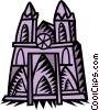 Vector Clipart illustration  of a church