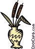 cat tails in a vase Vector Clipart image