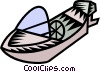 powerboat Vector Clipart illustration