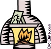 Vector Clipart illustration  of a fireplace