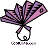 hand held fan Vector Clipart picture