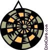 Vector Clip Art image  of a Dartboard