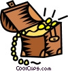 Vector Clipart illustration  of a jewelry box