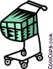 Vector Clipart image  of a shopping cart