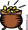 Vector Clip Art graphic  of a pot-of-gold
