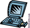 laptop computer Vector Clip Art picture