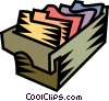 file folders Vector Clipart illustration