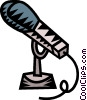 Vector Clipart graphic  of a microphone