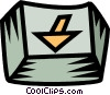 Vector Clipart graphic  of a computer key down