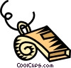 Vector Clip Art graphic  of a sports whistle