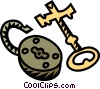 Vector Clip Art image  of a lock and key