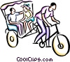 Couple on a bike ride Vector Clip Art picture