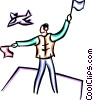 Vector Clip Art graphic  of a semaphore