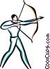 Man shooting bow and arrow Vector Clipart picture