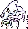 Vector Clipart graphic  of a Pianists