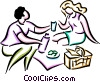 Picnics and Barbecues Vector Clipart illustration