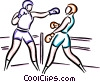 Vector Clip Art picture  of a Boxers sparring