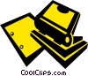 Vector Clipart image  of a hole punches