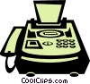 fax machine Vector Clip Art graphic