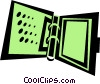 Vector Clipart picture  of a binder