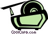 Vector Clip Art image  of an adhesive tape